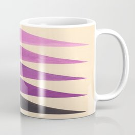 Colorful Purple Geometric Triangle Pattern With Black Accent Coffee Mug