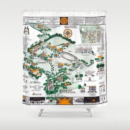 SYRACUSE campus map NEW YORK dorm decor graduate Shower Curtain
