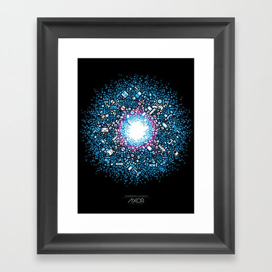 Gaming Supernova - AXOR Gaming Universe Framed Art Print