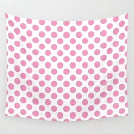 Light Pink Polka Dots Wall Tapestry