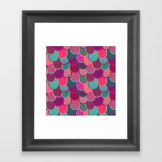 Fish Scales and Mermaid Tales Framed Art Print