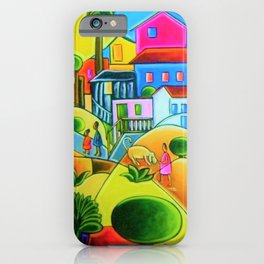 Morro da Favela by Tarsila do Amaral iPhone Case