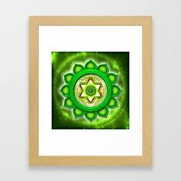 """Anahata Chakra - Heart Chakra - Series """"Open Chakra"""" Framed Art Print"""