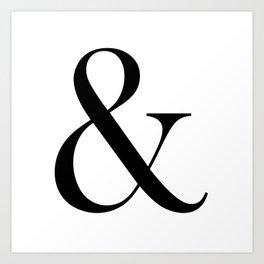 Ampersand Black Art Print
