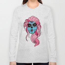 Pastel Sugar Skull Long Sleeve T-shirt