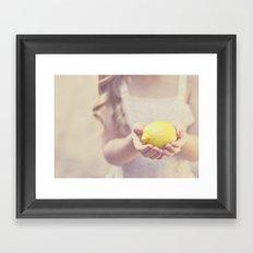 Sweet Lemon Framed Art Print