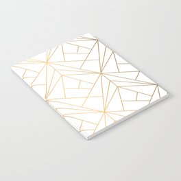 Geometric Gold Pattern With White Shimmer Notebook