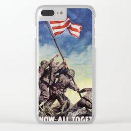 Raising the Flag on Iwo Jima Clear iPhone Case