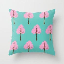 Pop Art Trees Throw Pillow