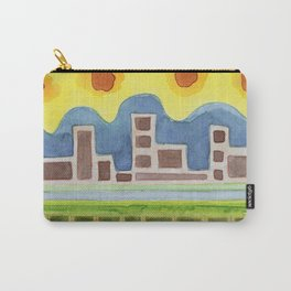 Surreal Simplified Cityscape Carry-All Pouch