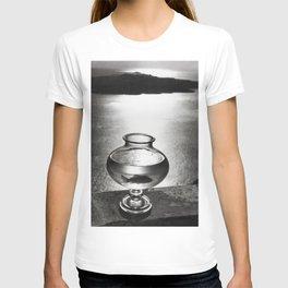 Goldfish bowl, Greek Islands portrait black and white photography T-shirt
