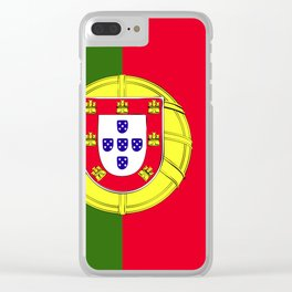 Portugal flag emblem Clear iPhone Case