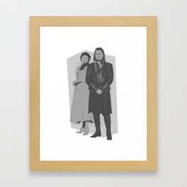 Monochrome Rumbelle Framed Art Print