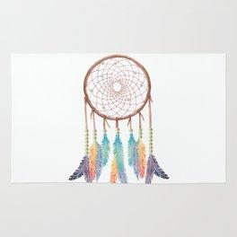 Gypsy Dreams Dreamcatcher on white with Gypsy Dreams Trim Rug