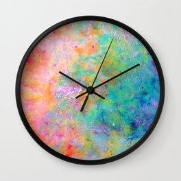 Kiss of Aether - Original Abstract Art by Vinn Wong Wall Clock