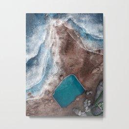 Mahon Ocean Pool at Maroubra Beach in Sydney Australia   Aerial Illustration Metal Print