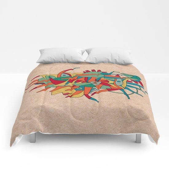 - horse man spider - Comforters