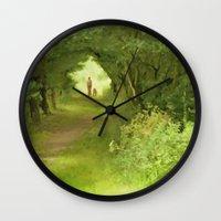 best friends Wall Clocks featuring Best Friends by CreativeByDesign
