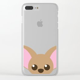 Cute Chihuahua puppy dog Clear iPhone Case
