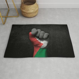 Palestinian Flag on a Raised Clenched Fist Rug
