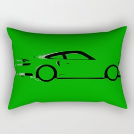 Fast Green Car Rectangular Pillow