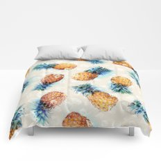 Pineapples + Crystals  Comforters