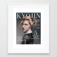 snk Framed Art Prints featuring SnK Magazine: Annie by emametlo