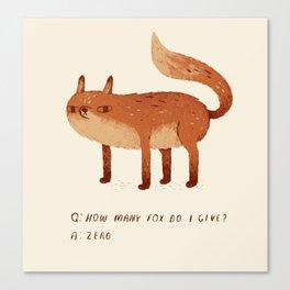 zero fox given Q and A Canvas Print