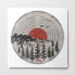 Vinyl Nature Tunes Metal Print