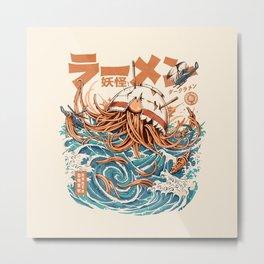 Dark Great Ramen off Kanagawa Metal Print