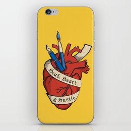 Head, heart & hustle iPhone Skin