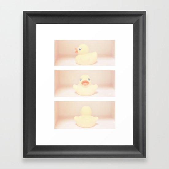 Rubber Ducky Duck Duck Framed Art Print