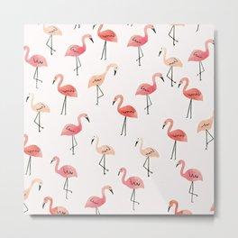 Flamingo Fun Metal Print