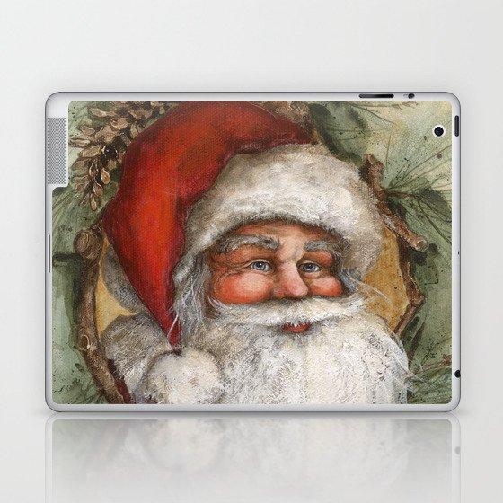 Rustic Santa Claus Laptop Ipad Skin By Edithjacksondesigns Society6