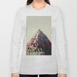 Structure temple ancient macro bokeh background illustration Long Sleeve T-shirt