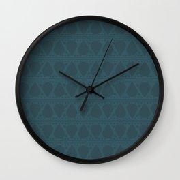 Abstract Tear Pattern - Dark Blue Wall Clock
