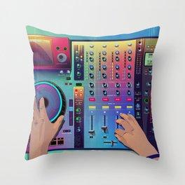 Go DJ Throw Pillow