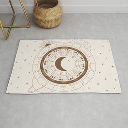 Lunar Calendar 2021 Beige Rug