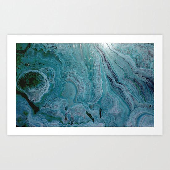 Blue stalactite Art Print