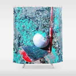 Golf art print work 15 Shower Curtain