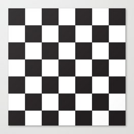 Black and White Checkered Pattern Canvas Print