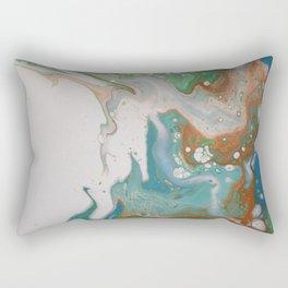 Turquoise Green Fluid Flow Marble Art Rectangular Pillow