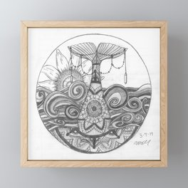 Mermaid Mandala Framed Mini Art Print