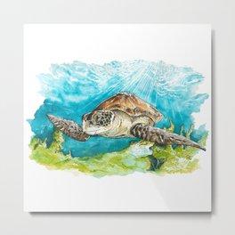 Swim Free Metal Print