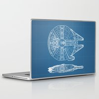 falcon Laptop & iPad Skins featuring Millennium II by Vickn