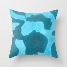 Blue Rising Throw Pillow