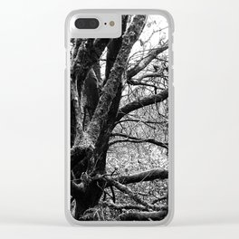 Furry Tree Clear iPhone Case