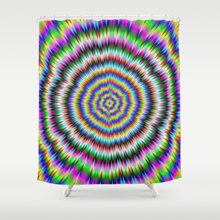 Eye Boggling Psychedelic Shower Curtain
