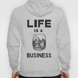 'Life is a WHISKEY business' pencil drawing  Hoody