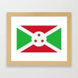 Burundi Flag (Canvas Look) Framed Art Print